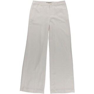 Lauren Ralph Lauren Womens Wide Leg Sueded Crepe Dress Pants