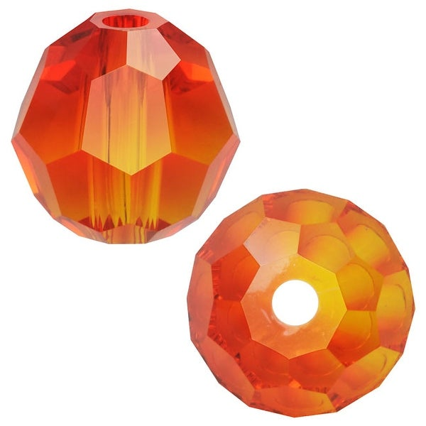 Swarovski Elements Crystal, 5000 Round Beads 6mm, 10 Pieces, Fire Opal