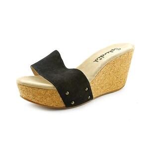 Splendid Greenville Open Toe Suede Wedge Sandal