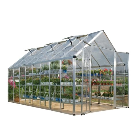 Palram Silver Snap and Grow Greenhouse (8' x 16') - 8 ft. x 16 ft.