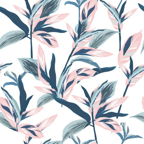 Guava Tropical Leaves Removable Wallpaper - 10'ft H x 24''inch W