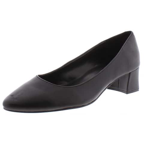 Bandolino Womens Aleth Dress Heels Leather Block Heel - Black