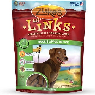 Zuke's Lil' Links Healthy Grain Free Little Sausage Links for Dogs Duck and Apple