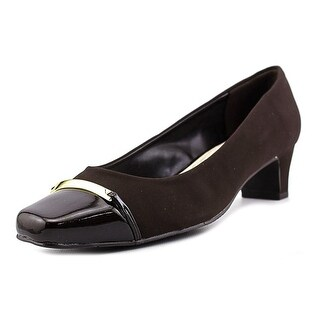 Easy Street Alexis W Square Toe Synthetic Heels