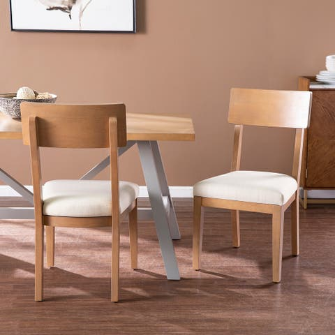 Porch & Den Hepner Natural Wood Dining Chairs (Set of 2)