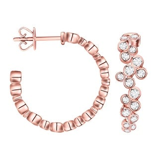Prism Jewel 1.24Ct G-H/I1 Natural Diamond Inside Out Diamond Hoop Earring - N/A (More options available)