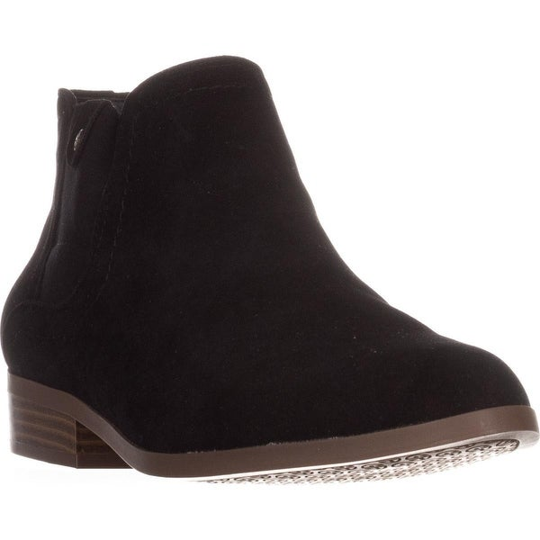 GB35 Falica Flat Ankle Boots, Black
