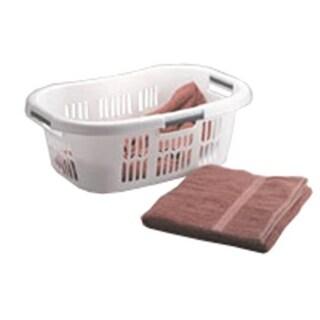 Rubbermaid Hip Hugger Laundry Basket FG299787WHT - Pack of 6