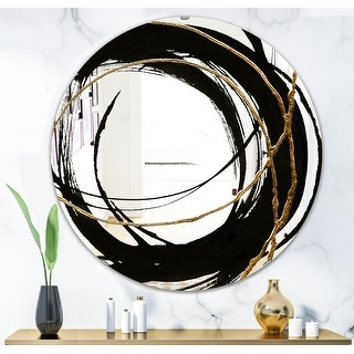 Link to Porch & Den 'Black & White 10' Glam Mirror - Black Similar Items in Mirrors