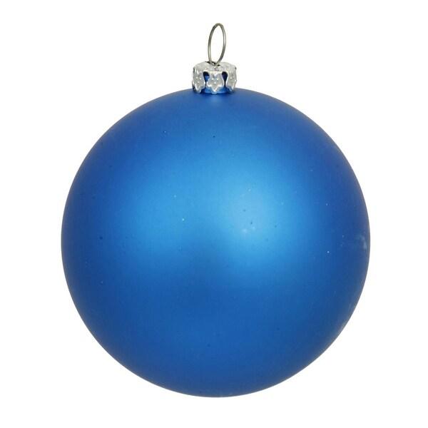 "Matte Blue UV Resistant Commercial Drilled Shatterproof Christmas Ball Ornament 15.75""(400mm)"