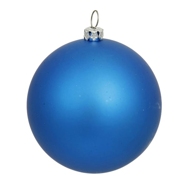 "Matte Lavish Blue UV Resistant Commercial Shatterproof Christmas Ball Ornament 4"" (100mm)"