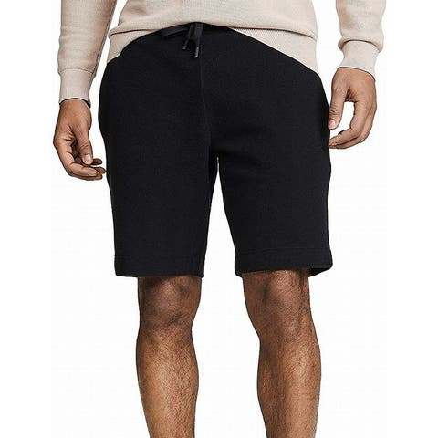 Theory Men Shorts Deep Black Size Medium M Relaxed Fit Sweat Drawstring