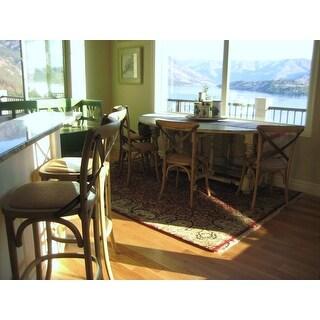Safavieh Eleanor Oak X-Back Dining Chair (Set of 2)