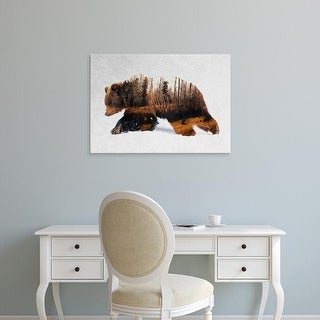 Easy Art Prints Andreas Lie's 'Bear 3' Premium Canvas Art