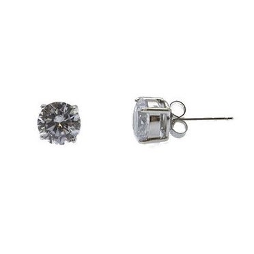 925 Sterling Silver Stud Earrings with Cubic Zirconia