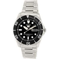 Seiko Men's 5 Automatic SNZF17K Silver Stainless-Steel Plated Fashion Watch