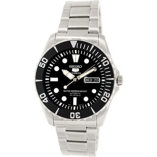 Seiko Men's 5 Automatic Silver Stainless-Steel Plated Fashion Watch