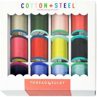 Sulky Cotton + Steel Thread Collection 50Wt 660Yd 12/Pkg-Wildflowers