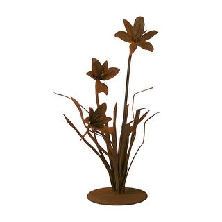 Patina Products S675 Small Lily Garden Sculpture - Caroline