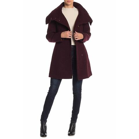Cole Haan Purple Women's Size 2 Shawl Collar Wool Blend Jacket