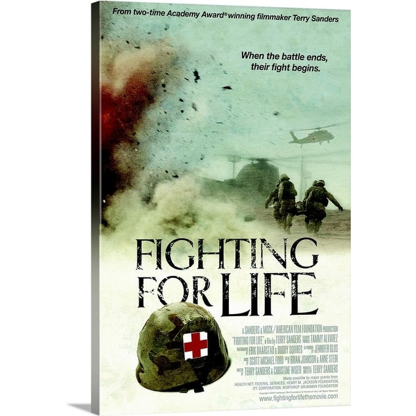 Shop Fighting For Life Movie Poster Canvas Wall Art Overstock 24137503