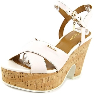 Coach Queen Women  Open Toe Leather  Platform Sandal