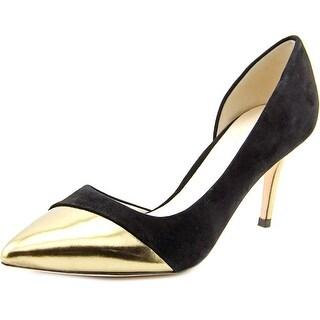 Cole Haan Highline Pump Women Pointed Toe Suede Black Heels