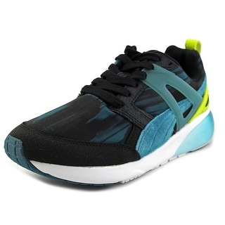 Puma Aril Fast Graphic Women Round Toe Canvas Blue Sneakers
