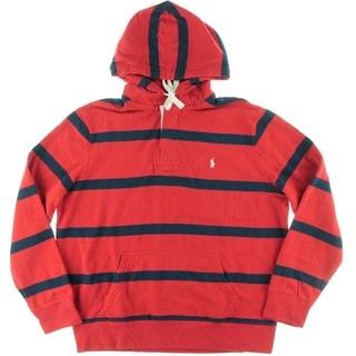 Polo Ralph Lauren Mens Fleece Striped Hoodie - XL