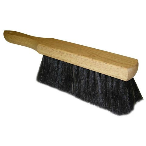 Quickie 412 Horse Hair Bench Brush with Wood Handle, 13.5""