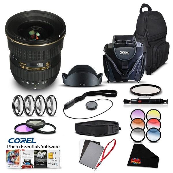 Tokina 11-16 F/2.8 AT-X DX II (for Nikon) (Intl Model) Lens Accessory Kit - black