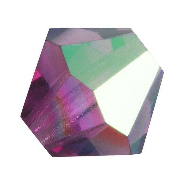 Preciosa Czech Crystal Beads 6mm Bicone 'Amethyst AB' (20)