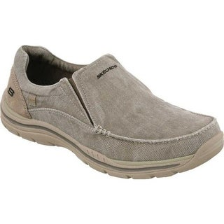 d0345da3c80 Shop Skechers Men s Relaxed Fit Expected Gomel Slip-On Sneaker Taupe ...