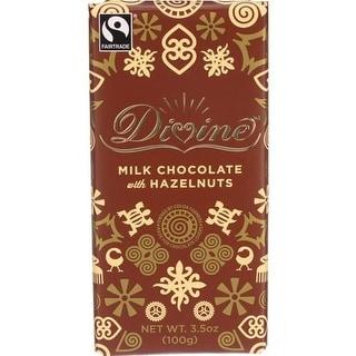 Divine - Milk Chocolate with Hazelnut Bars ( 10 - 3.5 OZ)