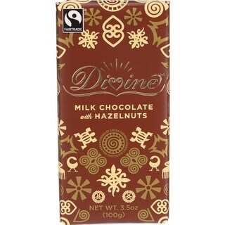 Divine - Milk Chocolate with Hazelnut Bars ( 10 - 3.5 OZ)