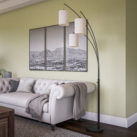 Willow Arc Black 3 Light Floor Lamp