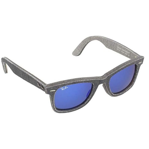 18a711a9d0dc Shop Ray-Ban Original Wayfarer Sunglasses (Rb2140) Grey Blue Acetate -  Non-Polarized - 50Mm - Grey - One Size - Free Shipping Today - Overstock -  24266440