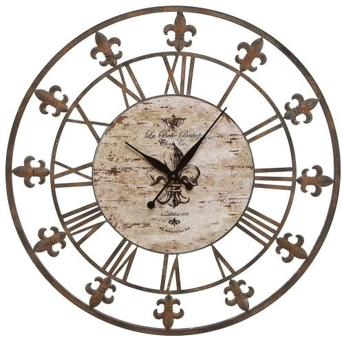 "Aspire Home Accents 13813 36"" Wrought Iron Wall Clock - Brown - N/A"