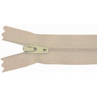 """Pants Zipper 9""""-Beige - beige"""