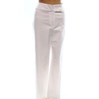 Alfani NEW White Extended Tab Women's Size 8 Straight Leg Casual Pants
