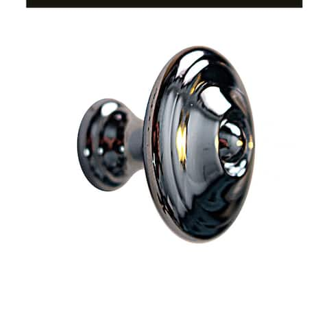 Elegant Round No Tarnish Cabinet Knob Bright Chrome Plated Finish 1 Dia X 7/8 Proj Renovators Supply