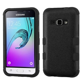 Insten Tuff Dual Layer Hybrid Rubberized Hard PC/ Silicone Case Cover For Samsung Galaxy Amp 2/ J1 2016 Version