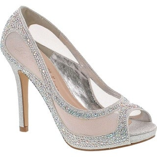 De Blossom Womens Barbara-58 Wedding Party High Heel Rhinestones Elegant Pumps Shoes