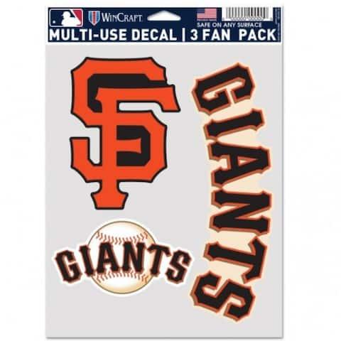 San Francisco Giants Decal Multi Use Fan 3 Pack
