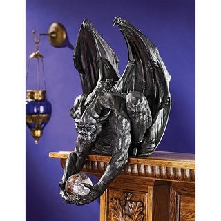 CLUTCH, KEEPER OF THE MYSTIC ORB GARGOYLE SITTER STATUE DESIGN TOSCANO grotesque