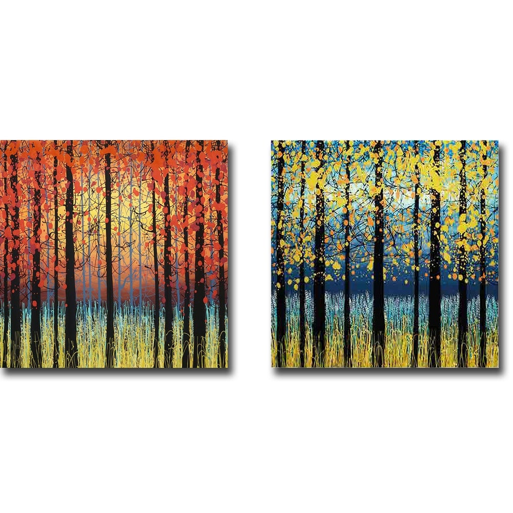 Peace Of Nature Field Of Peace By Daniel Lager 2 Pc Gallery Wrapped Canvas Giclee Set 18 In X 18 In Each Canvas In Set Overstock 32659777