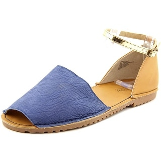 Kenneth Cole Reaction Away Day Women Open Toe Leather Blue Sandals