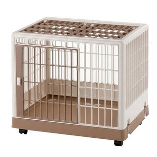 "Richell Pet Training Kennel PK-650 White / Mocha 25.4"" x 19.7"" x 22"""