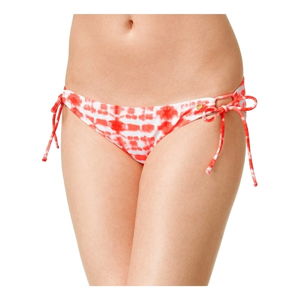 546151e1945 Raisins Womens Swimsuit Bikini Bottom Small S Coral and White Sweet Pea Tie  Dye