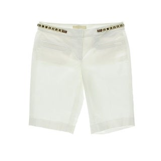 MICHAEL Michael Kors Womens Bermuda, Walking Shorts Chain Solid
